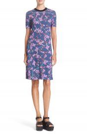 Carven Floral Print T-Shirt Dress at Nordstrom