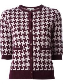 Carven Houndstooth Pattern Cardigan - at Farfetch