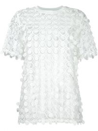 Carven Lace Detail Blouse at Farfetch