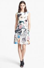 Carven Print Canvas Dress at Nordstrom