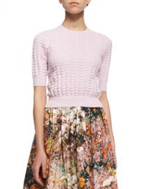 Carven Relief Textured Knit Sweater at Neiman Marcus