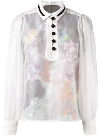 Carven Sheer Buttoned Blouse - Giulio at Farfetch