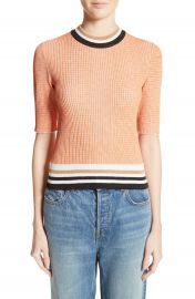 Carven Stripe Trim Sweater at Nordstrom