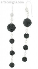 Cascading Earrings with CZ at Arte Designs