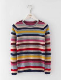 Cashmere Crew Neck Sweater in Multi Stripe at Boden