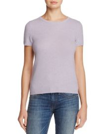 Cashmere Short-Sleeve Sweater at Bloomingdales