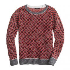 Cashmere diamond sweater at J. Crew