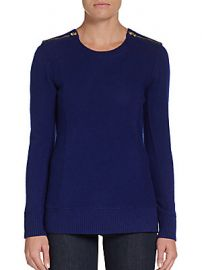 Cashmere zip shoulder pullover at Saks Off 5th