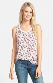 Caslonand174 Scoop Neck Woven Tank at Nordstrom