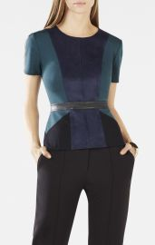 Cassaundra top in teal at Bcbg