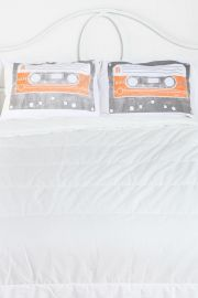 Cassette Print Pillowcases at Urban Outfitters