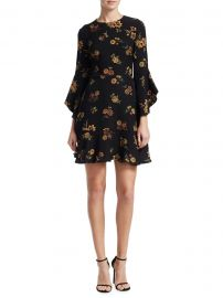 Cassidy Floral Silk Crepe Dress by ALC at Barneys