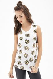 Cat Print Muscle Tank at Forever 21