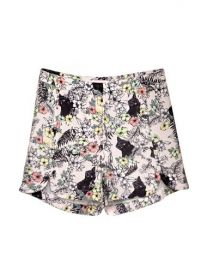 Cat Print Shorts at Pixie Market
