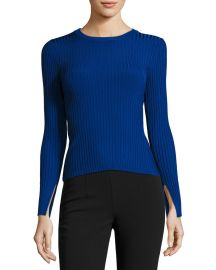 Catherine Malandrio Wide Ribbed Pullover Sweater at Lastcall