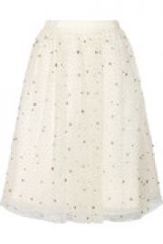 Catrina embellished tulle and organza skirt at The Outnet