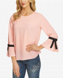 CeCe Crepe Bow-Sleeve Blouse at Macys