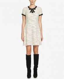 CeCe Chloe Tweed A-Line Dress at Macys