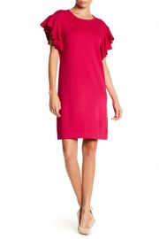 CeCe by Cynthia Steffe Ruffle Sleeve Knit Dress at Nordstrom Rack