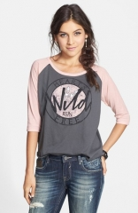 Cea and Jae Hearts Run Free Baseball Tee at Nordstrom