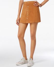 Celebrity Pink Juniors  Button-Front Corduroy Mini Skirt in Brown Sugar at Macys
