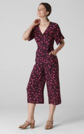 Celia Print Tie Front Jumpsuit at Whistles