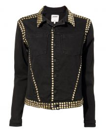 Celine Studded Black Denim Jacket at Intermix