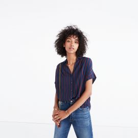 Central Drapey Shirt in Cornelia Stripe by Madewell at Madewell