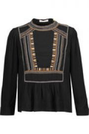 Cerza embroidered crepe blouse at The Outnet