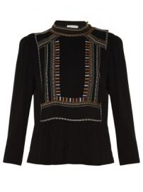 Cerza embroidered crepe top at Matches