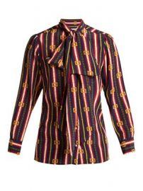 Chain-print silk shirt at Matches