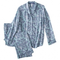Challis pajamas in cool waterfall by Gilligan and Omalley at Target
