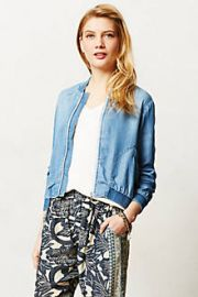 Chambray Bomber at Anthropologie