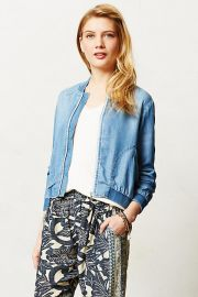 Chambray Bomber by Cloth & Stone at Anthropologie at Anthropologie