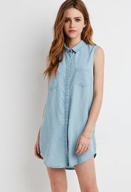 Chambray Shirt Dress  Forever 21 - 2000095801 at Forever 21