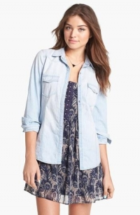 Chambray Western Shirt by Rubbish at Nordstrom