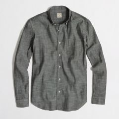 Chambray one pocket shirt at J. Crew