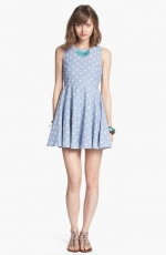 Chambray polka dot dress at Nordstrom