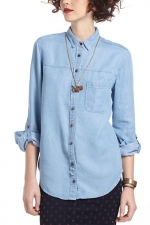 Chambray shirt at Anthropologie at Anthropologie