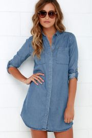 Chambray shirtdress at Lulus