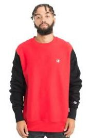 Champion Reverse Weave Colorblock Crewneck at MLTD
