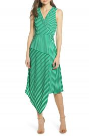 Charles Henry Wrap Midi Dress   Nordstrom at Nordstrom