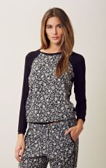 Charles Henry printed raglan pullover at Planet Blue