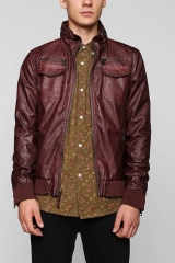 Charles and 12 Washed Faux Leather Jacket at Urban Outfitters
