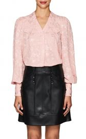 Charlotte Floral Silk Jacquard Blouse by Maison Mayle at Barneys