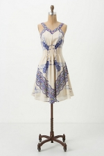 Charlottes blue bee dress at Anthropologie