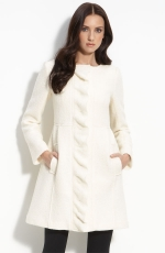 Charlottes white coat at Nordstrom