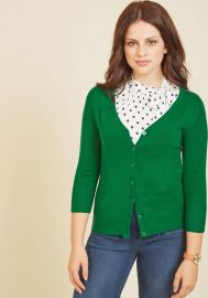 Charter School Cardigan in Clover at ModCloth