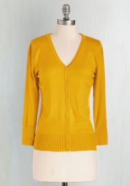 Charter School Cardigan in Honey at ModCloth