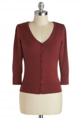 Charter School Cardigan in Rust at ModCloth